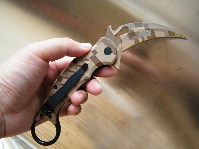 Керамбит Fox Knives Maniago, камуфляж от Noname