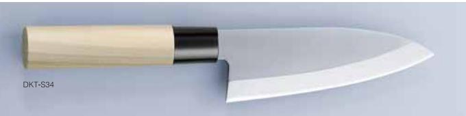 Нож кухонный DAIMON-YA Деба 150 мм, Молибден-Ванадиевая сталь, односторонняя заточка, рукоять магнолия