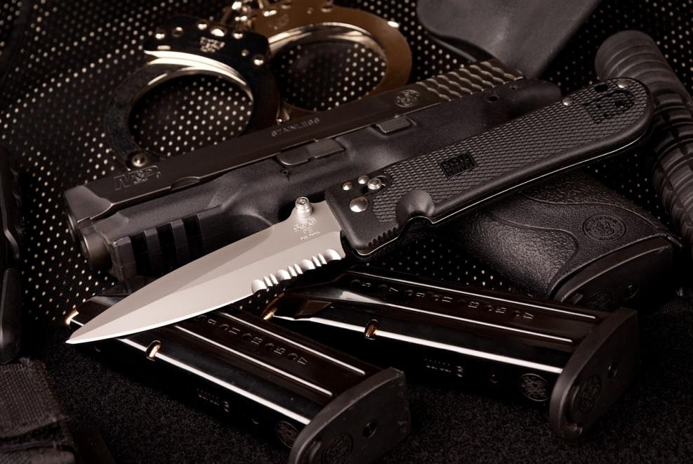 Фото 9 - Складной нож Pentagon Elite I - SOG PE14 10.2 см, сталь VG-10, рукоять пластик GRN