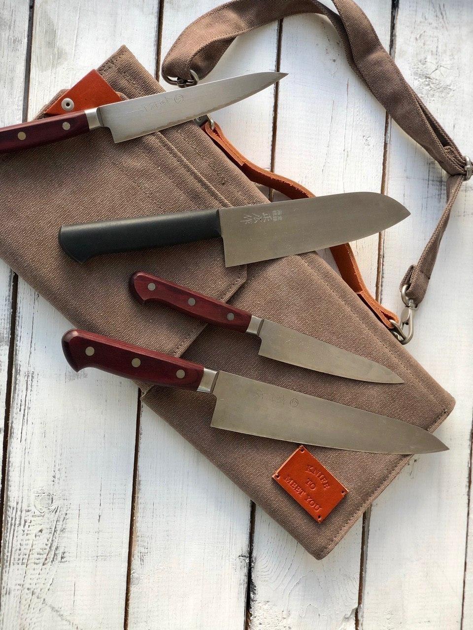 Сумка (скрутка) для 4 кухонных ножей Knife to meet you BAG-QUATTRO