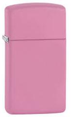 Зажигалка ZIPPO Slim®, латунь с покрытием Pink Matte, розовый, матовая, 30х10x55 мм