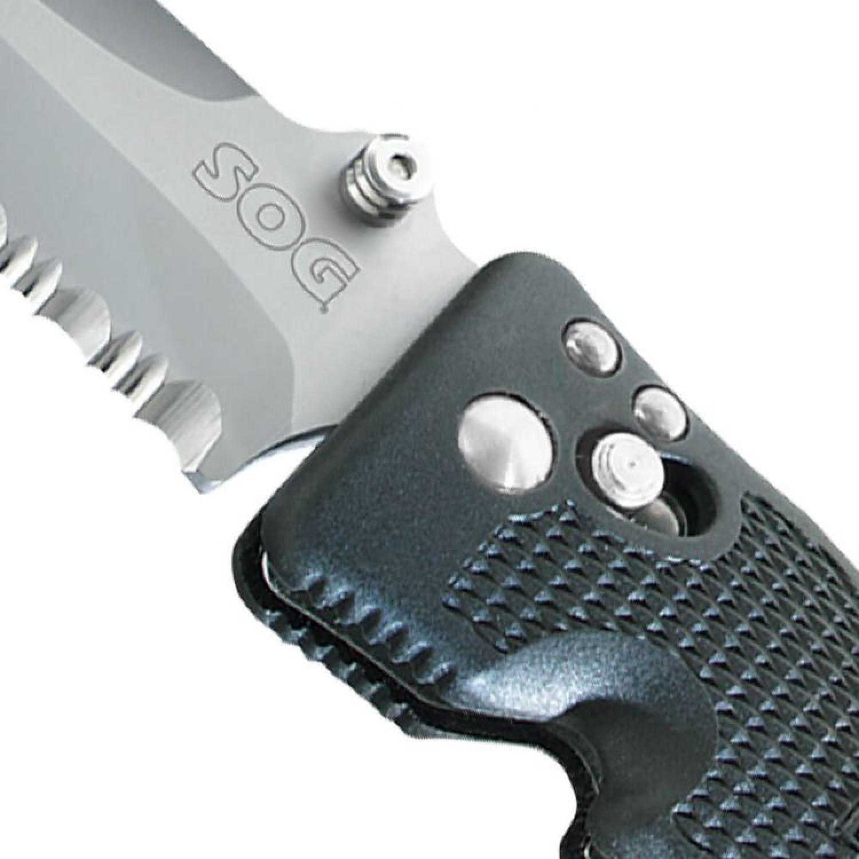 Фото 13 - Складной нож Pentagon Elite I - SOG PE14 10.2 см, сталь VG-10, рукоять пластик GRN