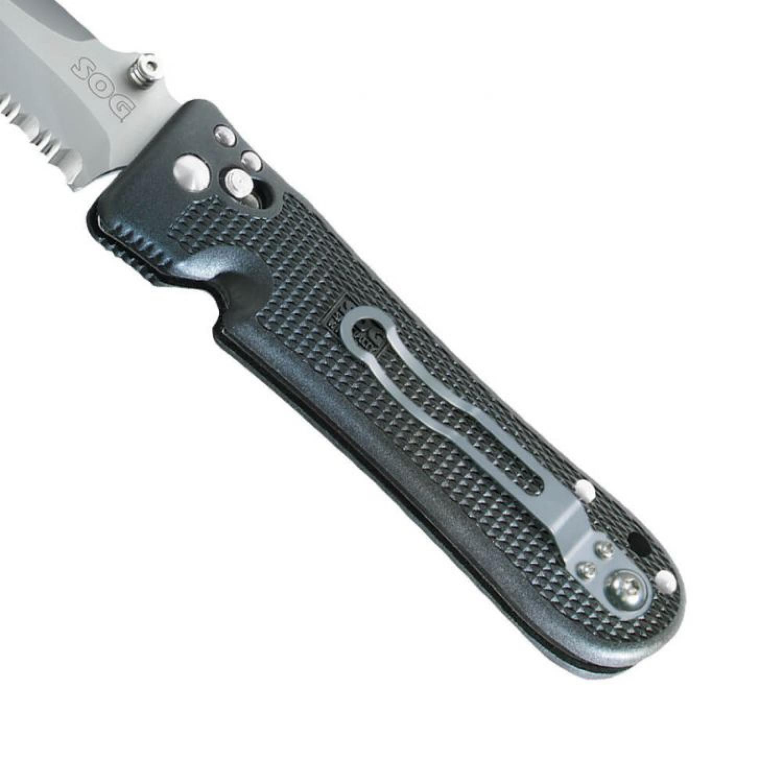 Фото 14 - Складной нож Pentagon Elite I - SOG PE14 10.2 см, сталь VG-10, рукоять пластик GRN