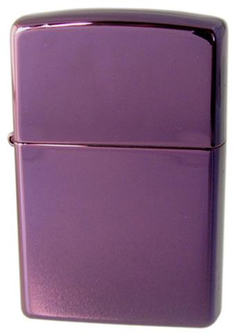 Зажигалка ZIPPO Abyss Classic, латунь с покрытием, фиолетовый, глянцевая, 36х12x56 мм. Вид 1