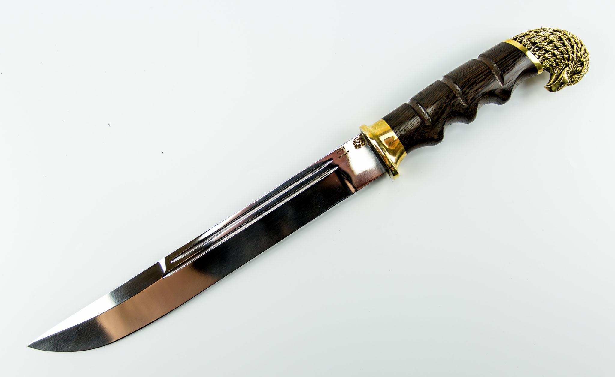 Нож Пластунский Казачий, сталь 95Х18, рукоять венге с головой орла от Мастерская Сковородихина