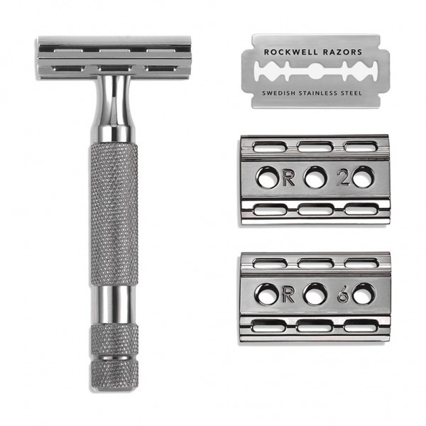 Т-образная бритва Rockwell 6C, серый хром фото