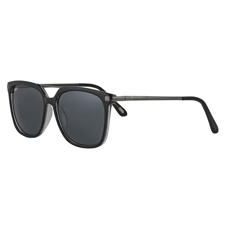 Очки солнцезащитные ZIPPO, унисекс, чёрные, оправа, линзы, дужки из поликарбоната, заушники из меди