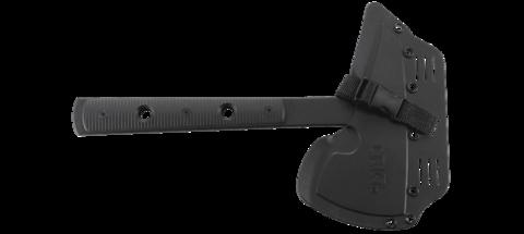 Топор CRKT 2737 Rune™ Designed by Ryan Johnson of RMJ Tactical, сталь SK-5 Carbon Black Powder Coating, рукоять термопластик GRN. Вид 7