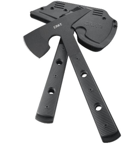 Топор CRKT 2737 Rune™ Designed by Ryan Johnson of RMJ Tactical, сталь SK-5 Carbon Black Powder Coating, рукоять термопластик GRN. Вид 11