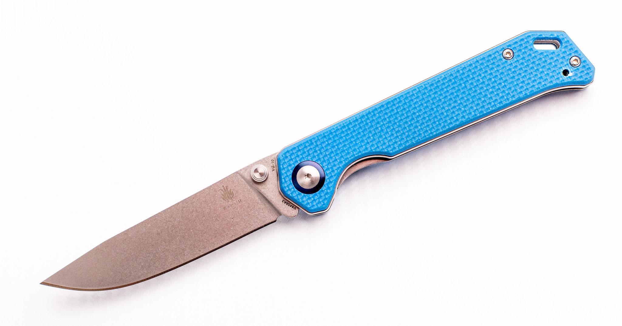 Складной нож Kizer Begleiter, сталь VG-10, синяя рукоять G10