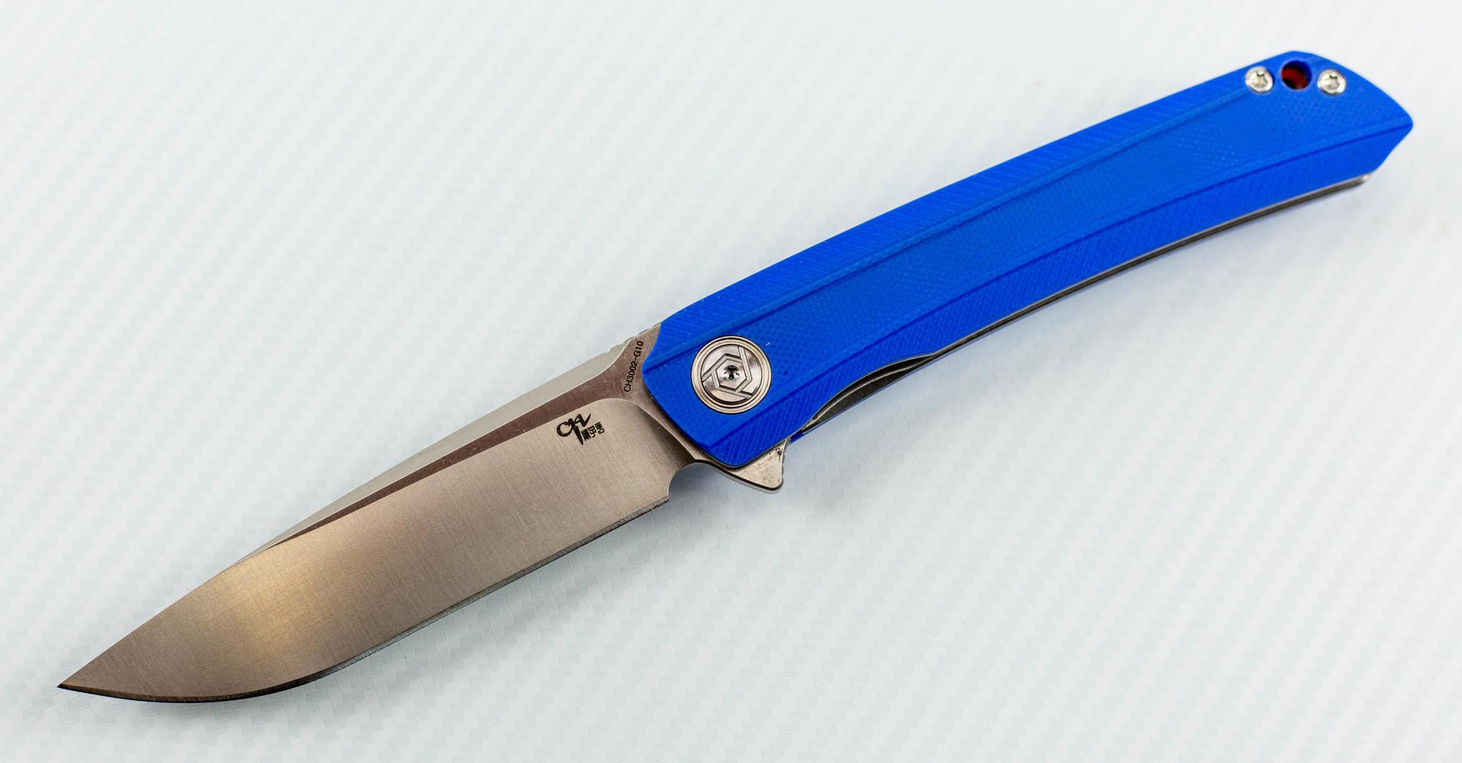 Складной нож CH3002 сталь D2, Синий цена в Москве и Питере