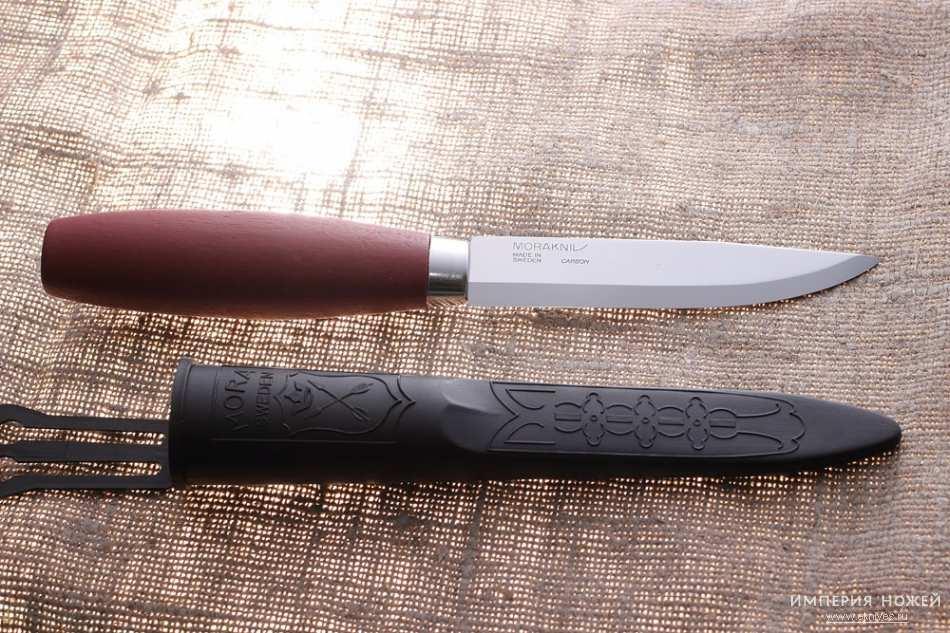 Фото 5 - Нож с фиксированным лезвием Morakniv Classic № 2, углеродистая сталь, рукоять береза