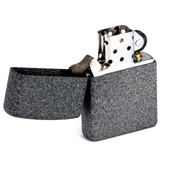 Фото 5 - Зажигалка ZIPPO, латунь с покрытием Iron Stone™, серый, матовая, 36х12x56 мм