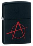 Зажигалка ZIPPO Classic А с покрытием Black Matte, латунь/сталь, чёрная, матовая, 36x12x56 мм - купить в интернет магазине