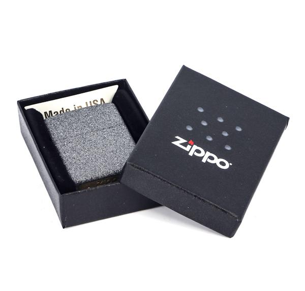Фото 6 - Зажигалка ZIPPO, латунь с покрытием Iron Stone™, серый, матовая, 36х12x56 мм