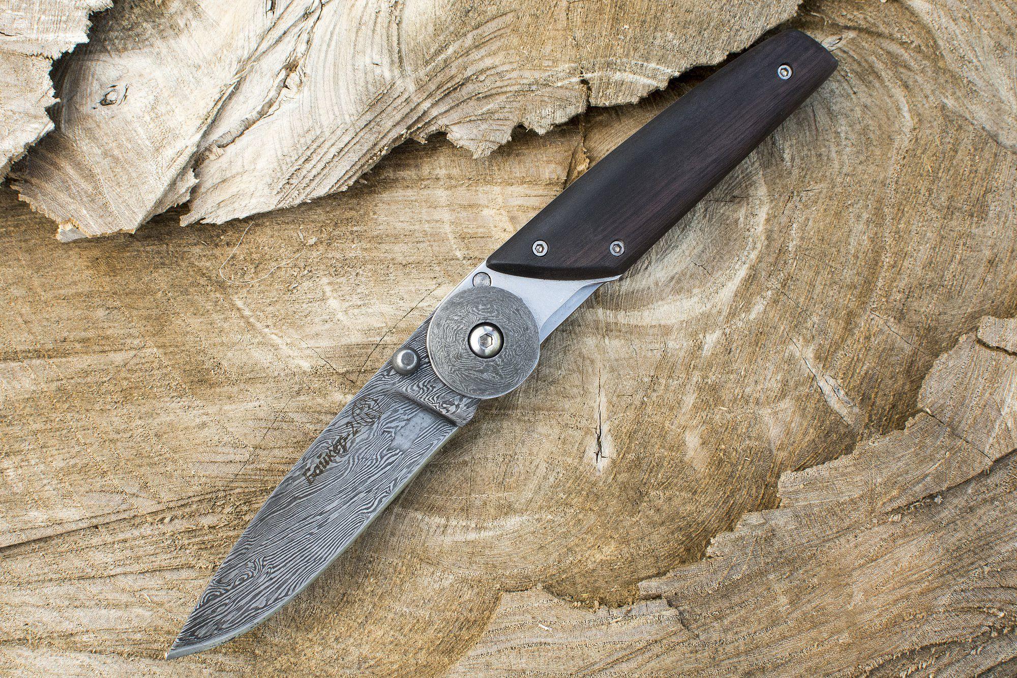 Складной нож Байкер-2, сталь дамаск, Кизляр