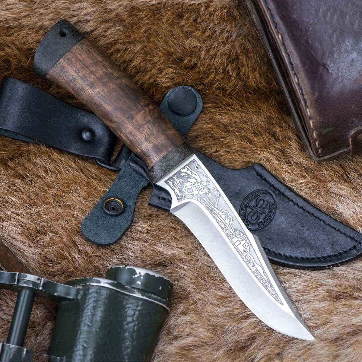 Фото - Нож АиР Хазар, сталь Elmax, рукоять дерево складной нож wild west сталь elmax рукоять карбон