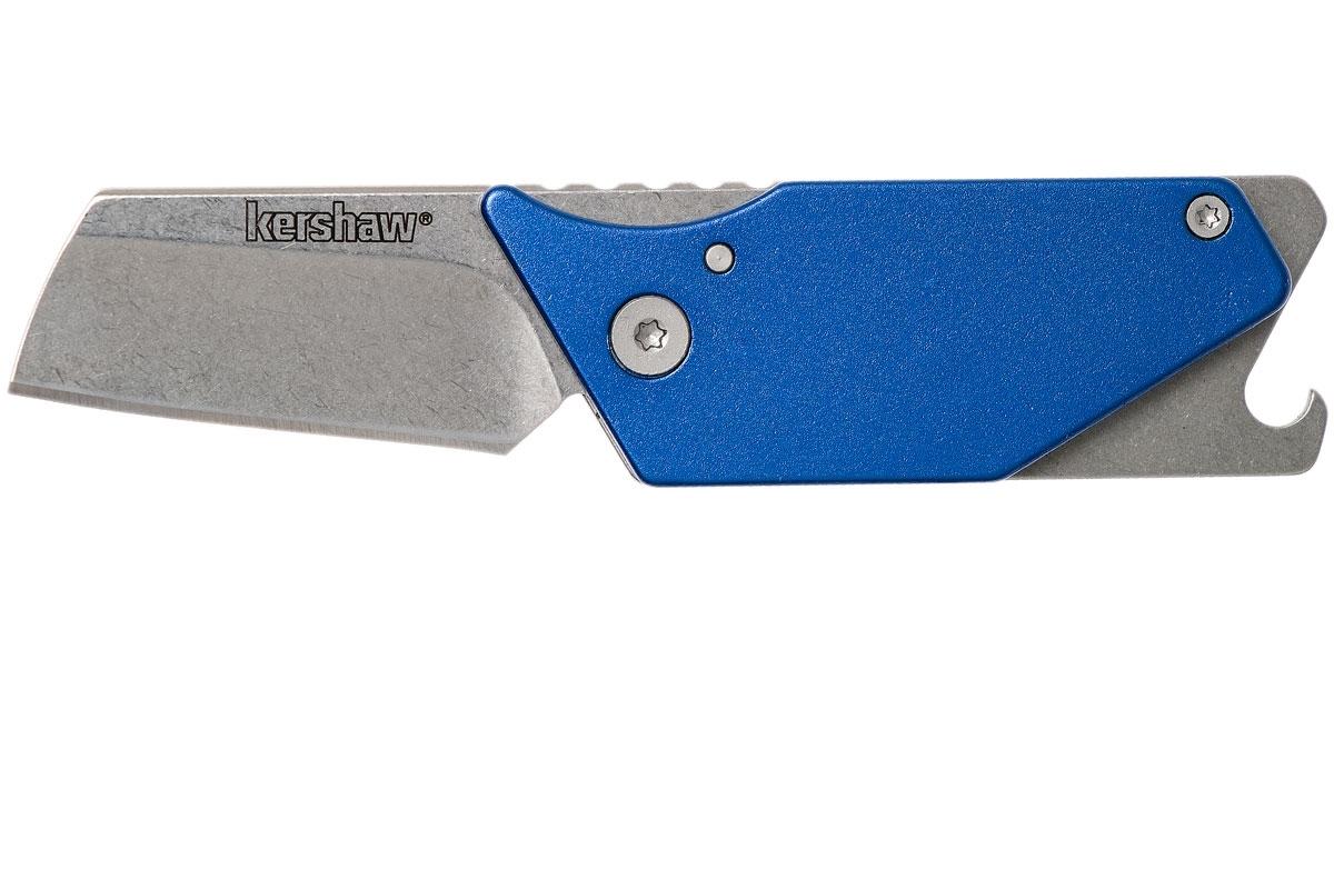 Фото 7 - Складной нож Sinkevich Design Pub - KERSHAW 4036BLU, сталь клинка 8Cr13MoV (Stonewashed), рукоять алюминий/сталь, синий