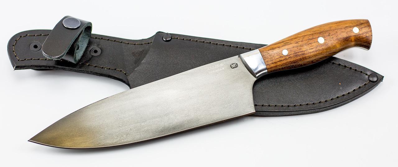 Фото 8 - Нож шефа кухонный MT-42, бубинго, кованая сталь Х12МФ