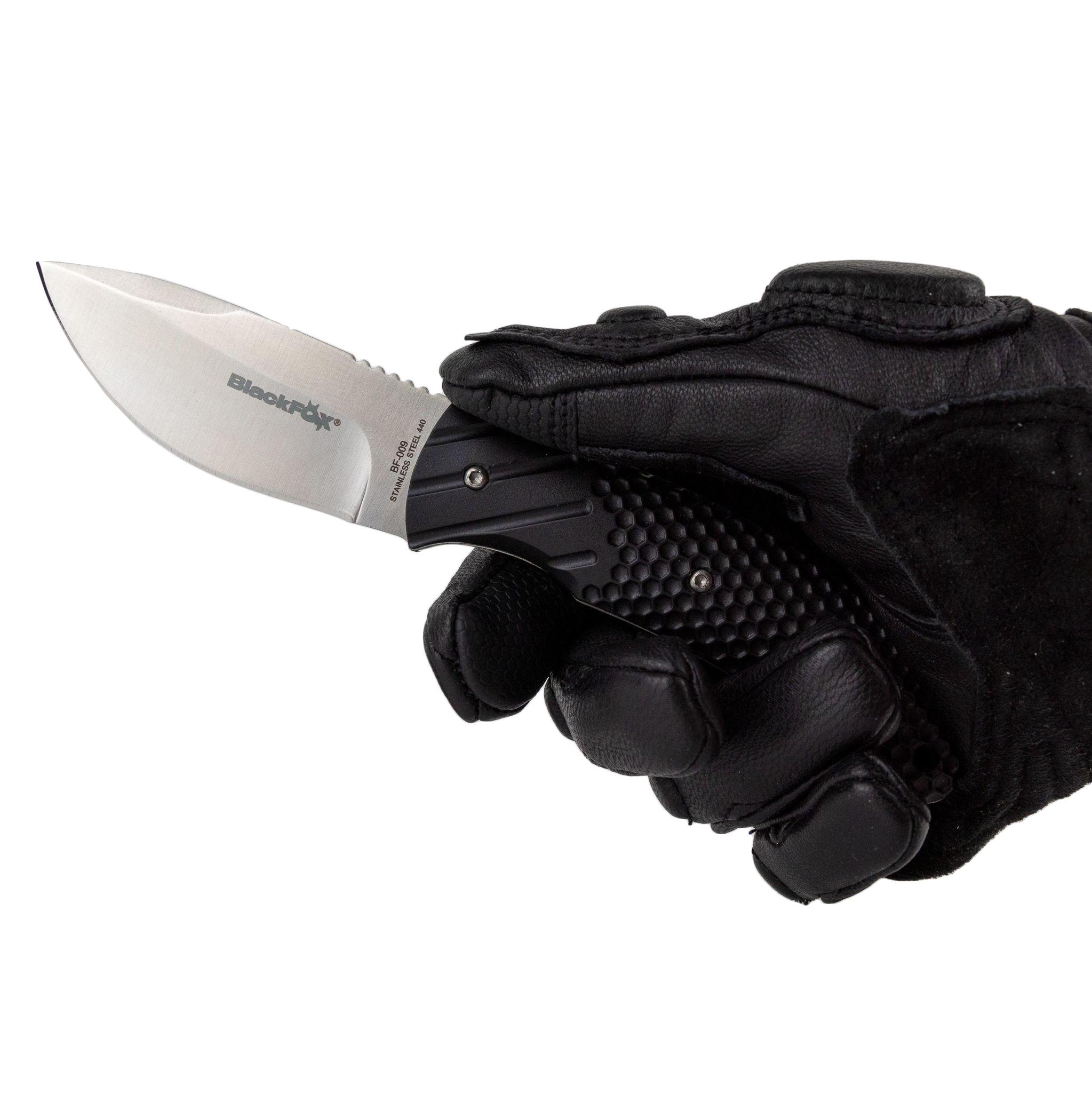Фото 7 - Нож Fox, сталь 440А, рукоять термопластик FRN, чёрный
