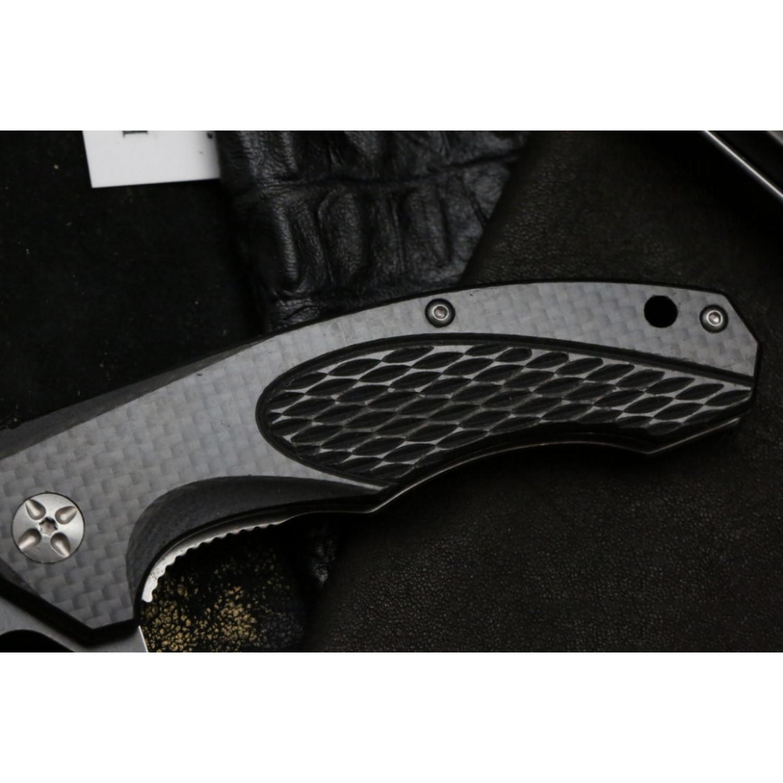 Фото 6 - Складной нож Magnum Omen - Boker 01SC057, сталь 440A 2 Tone Stonewash, рукоять стеклотекстолит G10/карбон, серый