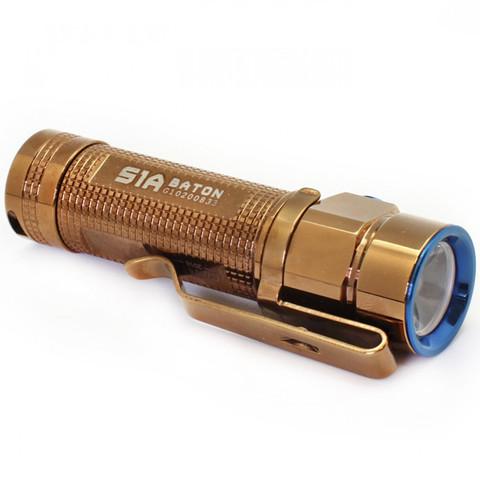 Фонарь Olight S1A-CU Rose Gold золотой. Вид 3