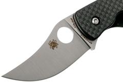 Нож складной REINHOLD RHINO™ Spyderco 210CFP, сталь Carpenter CTS™ - XHP Micro-Melt® Alloy Satin Plain, рукоять карбон/G10, чёрный, фото 5