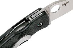 Нож складной REINHOLD RHINO™ Spyderco 210CFP, сталь Carpenter CTS™ - XHP Micro-Melt® Alloy Satin Plain, рукоять карбон/G10, чёрный, фото 10