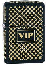 Фото 3 - Зажигалка ZIPPO VIP, латунь с порошковым покрытием, чёрный с нанесением, матовая, 36х12x56 мм