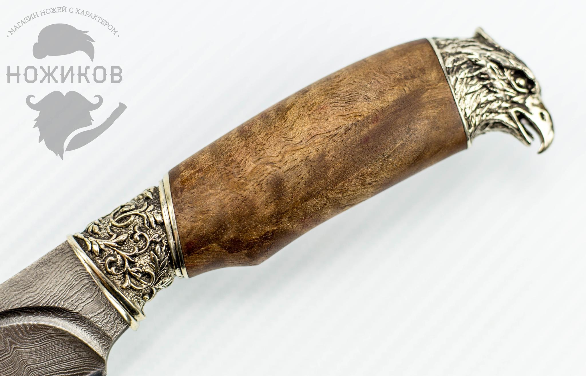 Фото 9 - Авторский Нож из Дамаска №76, Кизляр