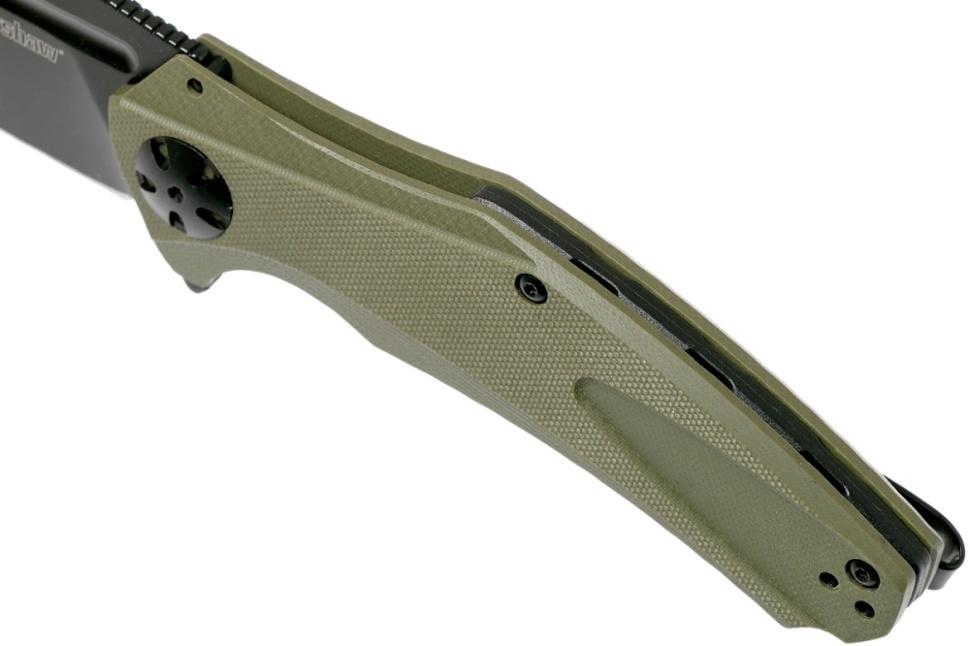 Фото 10 - Складной нож Kershaw Natrix XL OD Green 7008OLBLK, сталь 8Cr13MoV, рукоять G-10