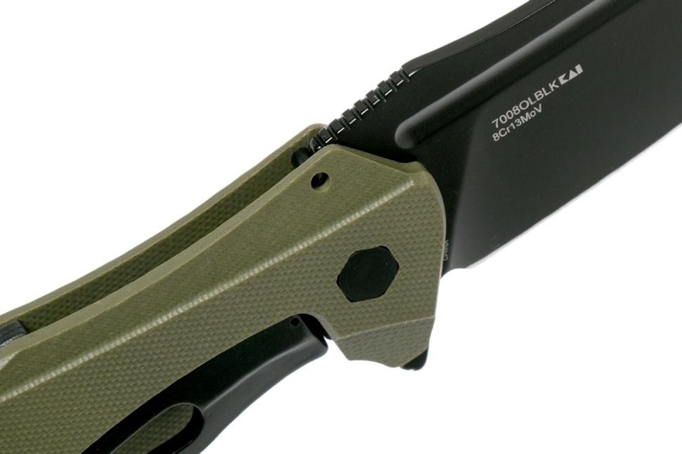 Фото 11 - Складной нож Kershaw Natrix XL OD Green 7008OLBLK, сталь 8Cr13MoV, рукоять G-10
