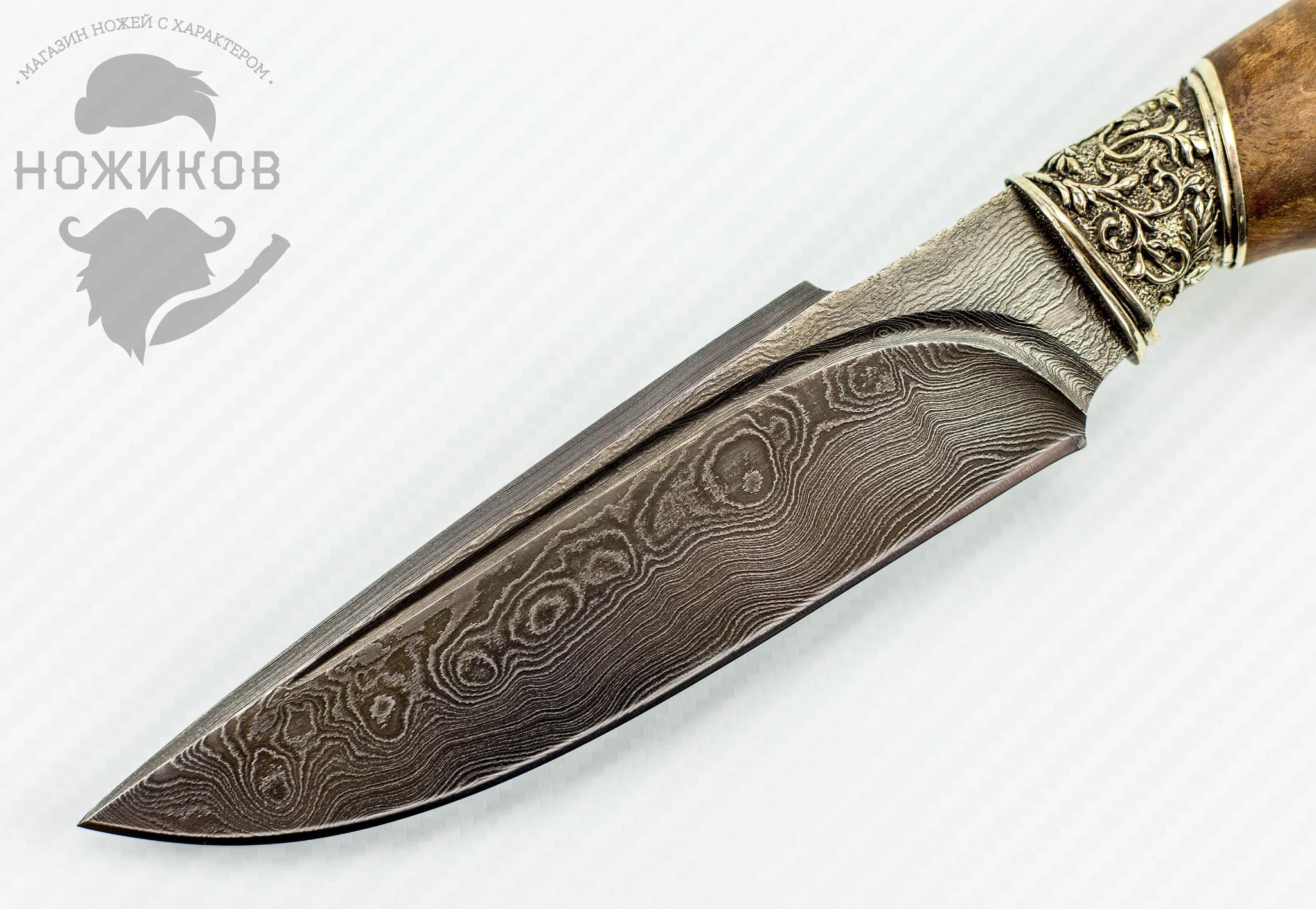 Фото 8 - Авторский Нож из Дамаска №76, Кизляр