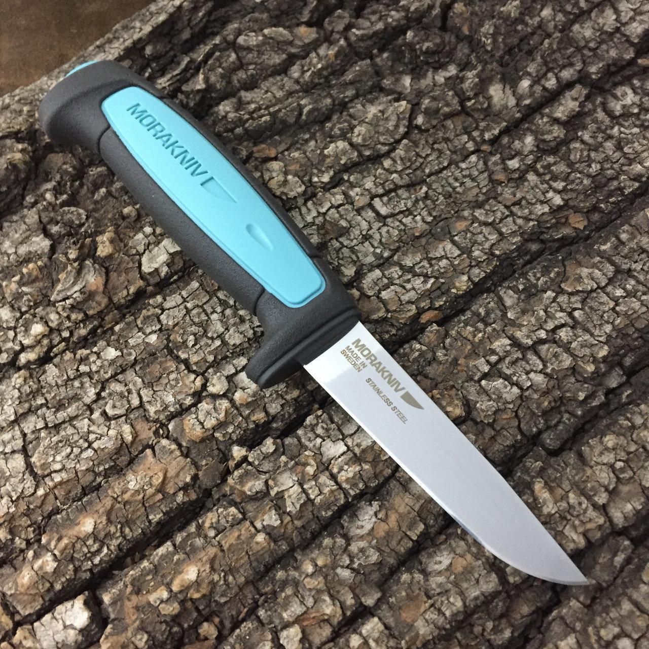 Фото 10 - Нож с фиксированным лезвием Morakniv Flex, сталь Sandvik 12C27, рукоять резина/пластик, светло-синий