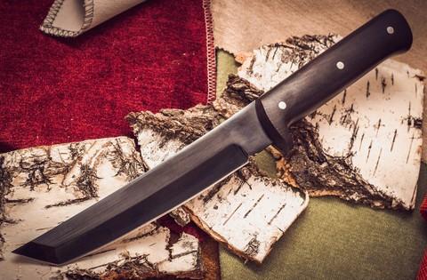 Нож Тантоид MT-12, черный граб, сталь 65Г. Вид 1