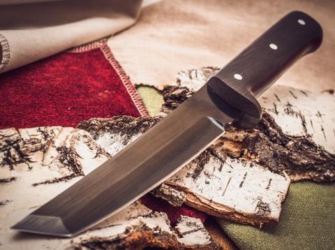 Нож Тантоид MT-12, черный граб, сталь 65Г. Вид 2