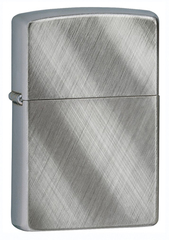 Зажигалка ZIPPO Classic с покрытием Brushed Chrome, латунь/сталь, серебристая, мат., 36x12x56 мм