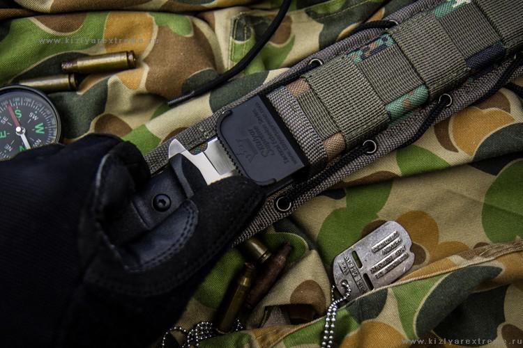 Фото 8 - Тактический нож Alpha AUS-8 SW от Кизляр от Kizlyar Supreme