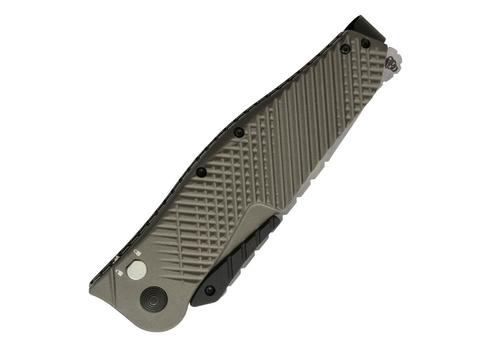 Полуавтоматический складной нож Quake XL, Flat Dark Earth Anodized Aluminum Handle, 2-Tone Finish VG-10 Blade. Вид 3