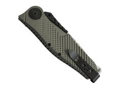 Полуавтоматический складной нож Quake XL, Flat Dark Earth Anodized Aluminum Handle, 2-Tone Finish VG-10 Blade, фото 4