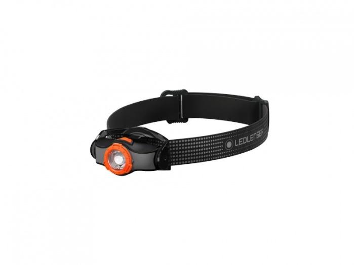 Фото - Фонарь светодиодный налобный LED Lenser MH3, черно-оранжевый, 200 лм, 1-АА налобный фонарь mh3 черный с серым