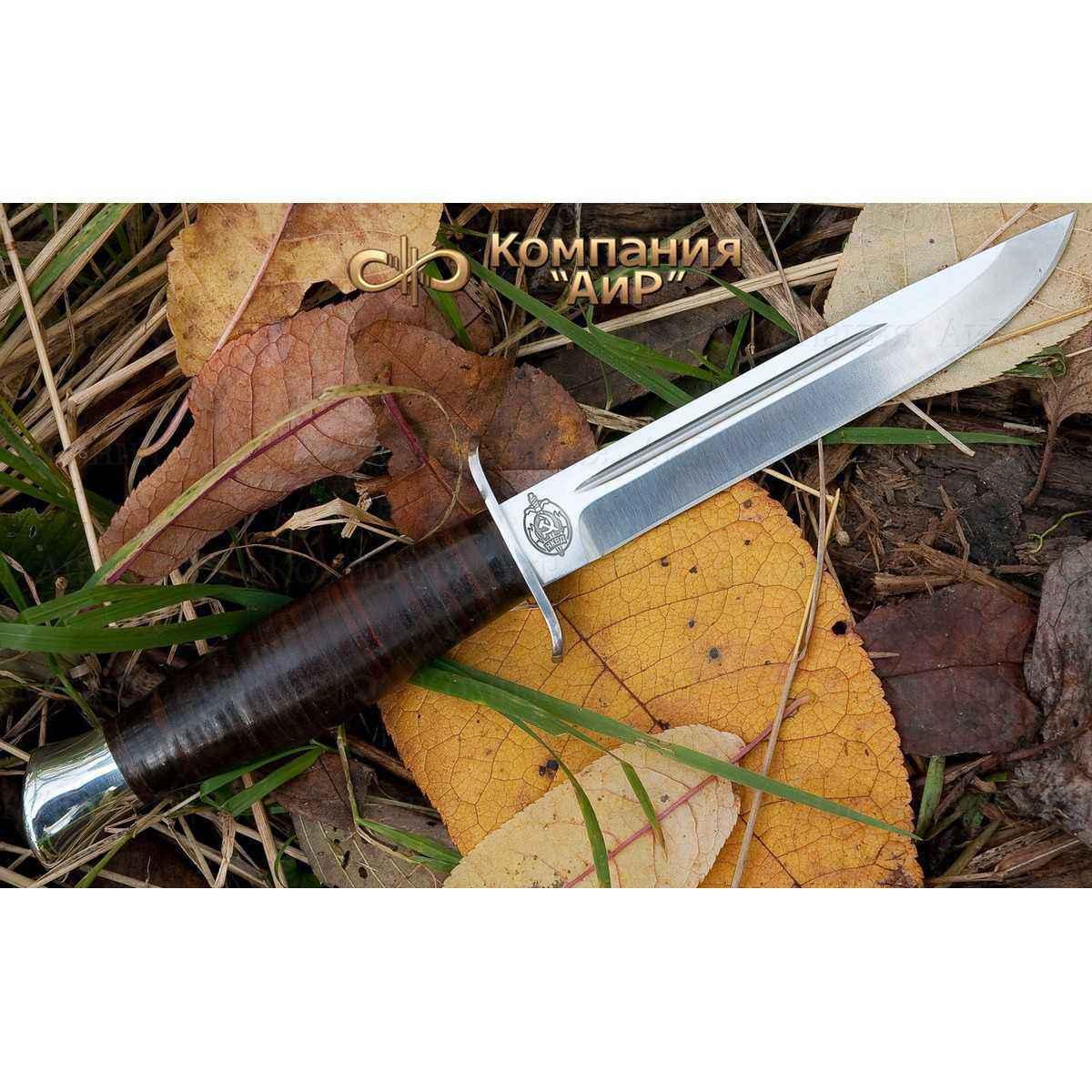 Нож АиР Финка-2, сталь К-340, рукоять кожа