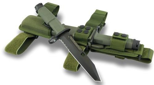 Фото 5 - Нож с фиксированным клинком Extrema Ratio Fulcrum Mil-Spec Bayonet Green, сталь Bhler N690, рукоять пластик