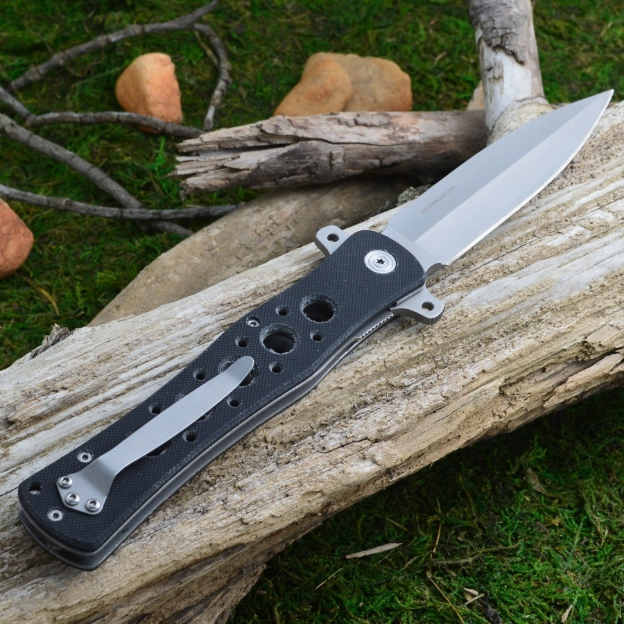 Фото 9 - Нож складной Boker Magnum Great Knight, сталь 440A Bead Blast Plain, рукоять стеклотекстолит G-10, 01MB221