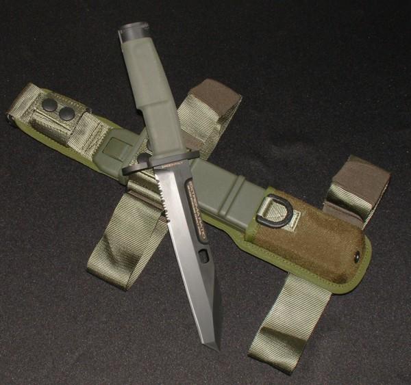 Нож с фиксированным клинком Fulcrum Mil-Spec Bayonet Green