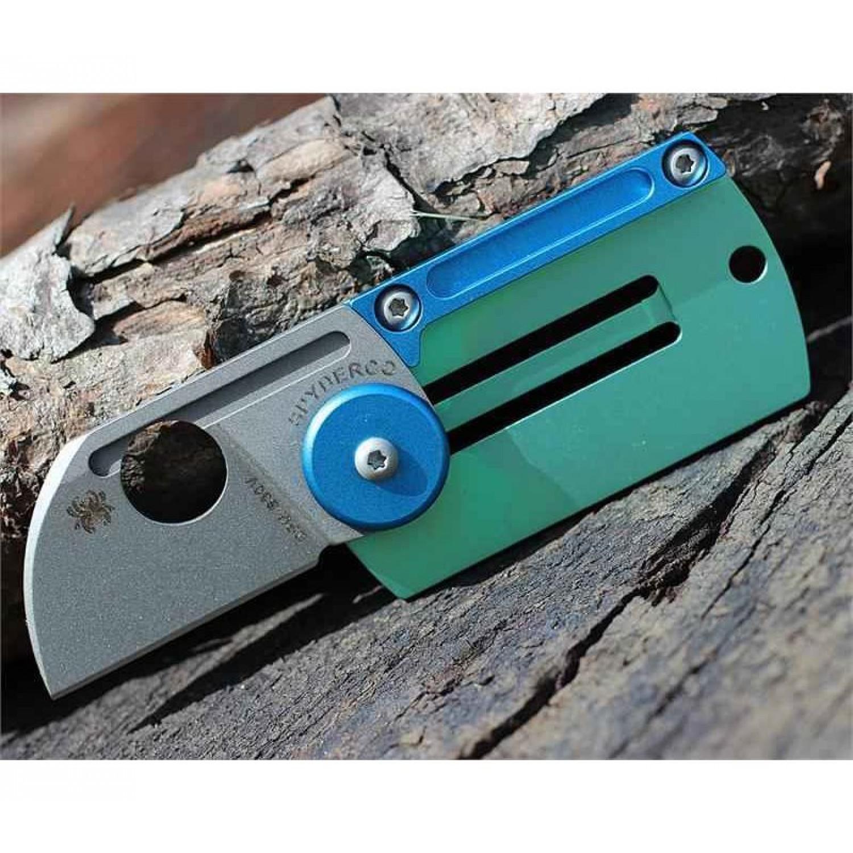 Фото 10 - Складной нож-брелок Dog Tag Folder - Spyderco С188ALTIP, сталь CPM S30V, рукоять титан/алюминий