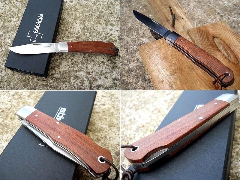 Фото 9 - Нож складной Lockback Bubinga - Boker 01BO185, сталь 440C Satin Plain, рукоять дерево бубинго