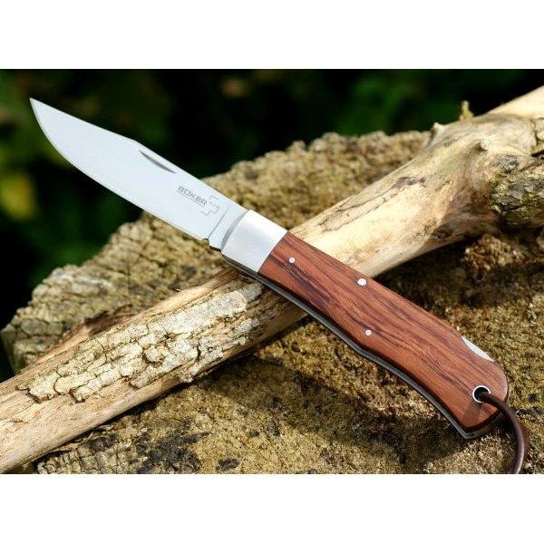Фото 10 - Нож складной Lockback Bubinga - Boker 01BO185, сталь 440C Satin Plain, рукоять дерево бубинго