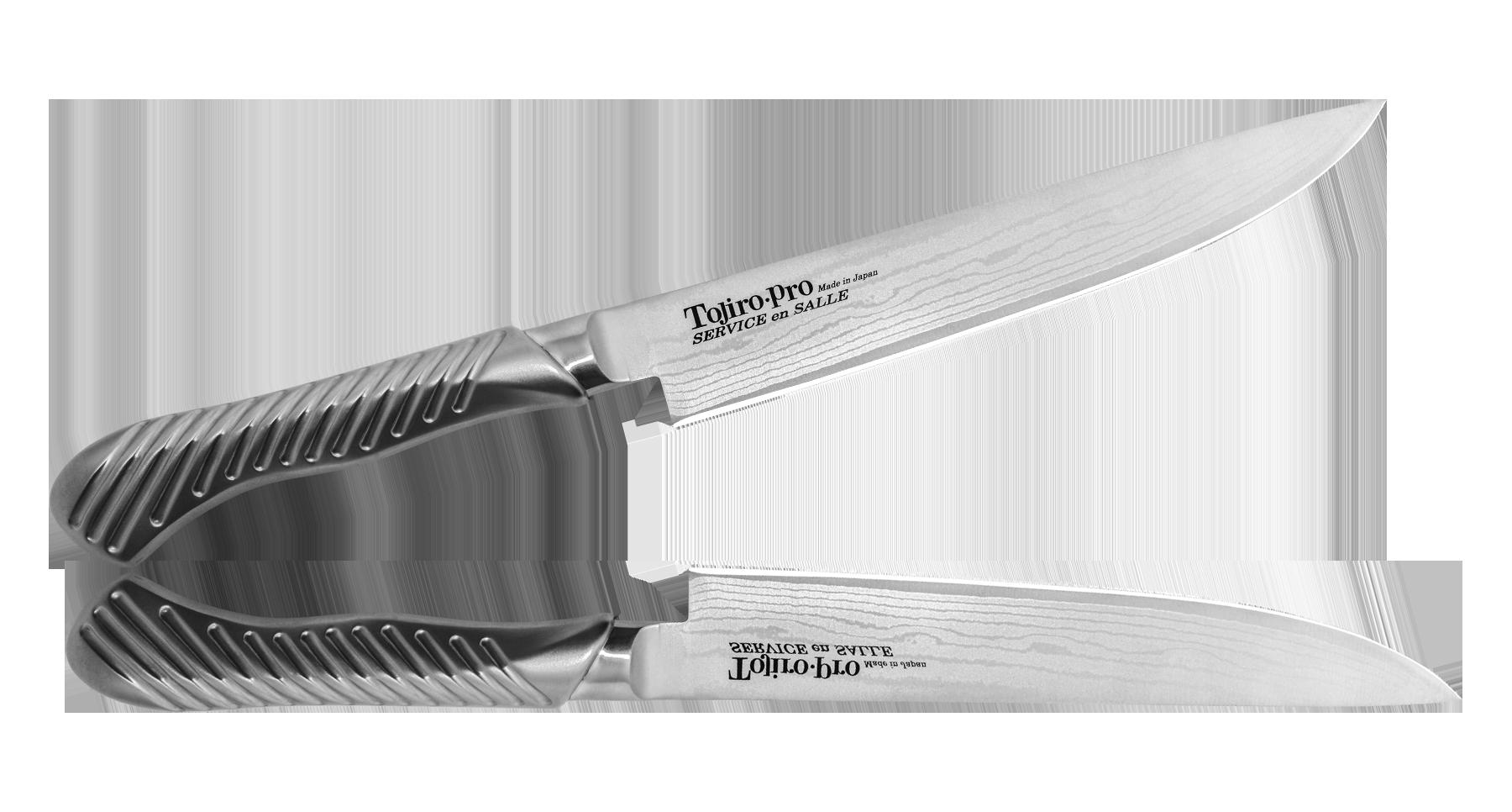 все цены на Нож для нарезки стейка Service Knife, Tojiro, 190 мм, сталь VG-10 онлайн