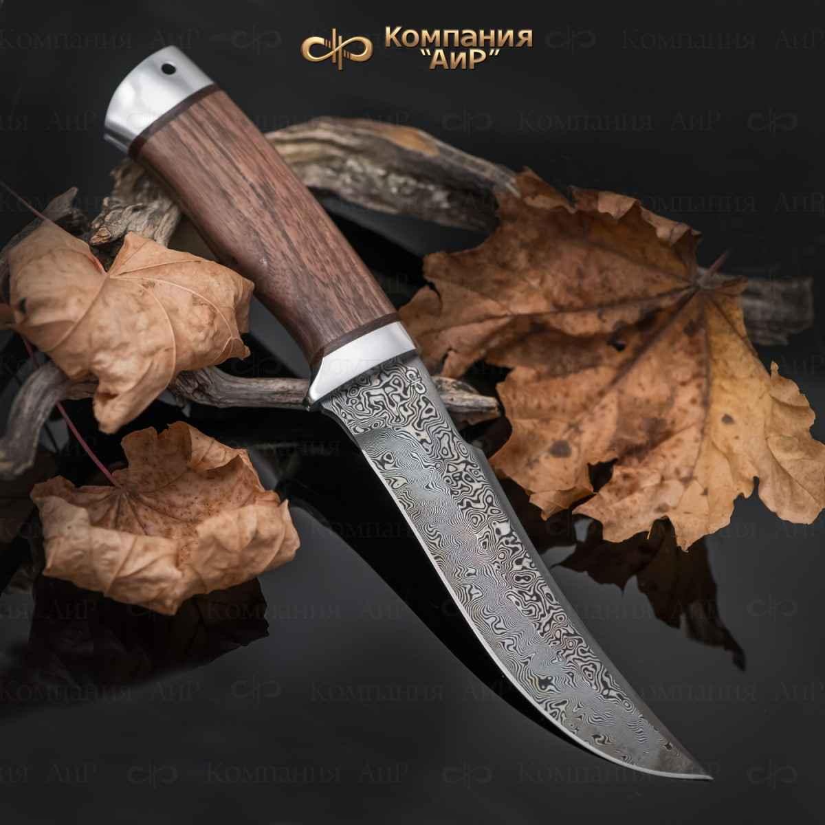 Фото - Нож АиР Клык, сталь ZDI 1016, рукоять дерево, алюминий нож аир клык сталь zdi 1016 рукоять дерево алюминий